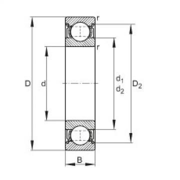 FAG Rolamento de esferas - 61800-2Z