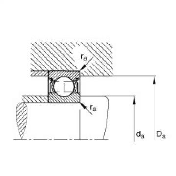 FAG Rolamento de esferas - S698-2Z