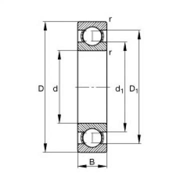 FAG Rolamento de esferas - S601-X