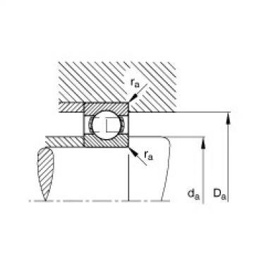 FAG Rolamento de esferas - S605