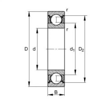 FAG Rolamento de esferas - S627-2Z
