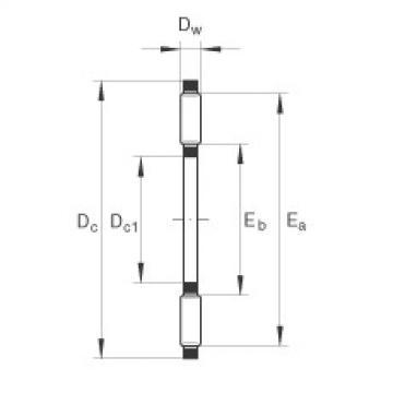 FAG Rolamento axial de agulhas - TC411