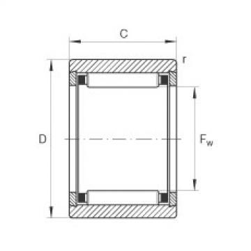 FAG Rolamento de agulhas - NK10/12-TV-XL