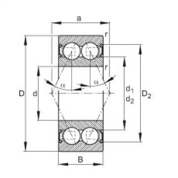 FAG Rolamento angular - 30/5-B-2RSR-TVH
