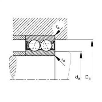 FAG Rolamento angular - 3812-B-2RS-TVH