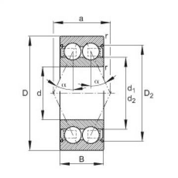 FAG Rolamento angular - 30/5-B-2Z-TVH