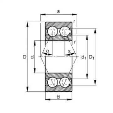 FAG Rolamento angular - 30/8-B-TVH