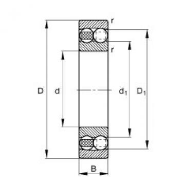 FAG Rolamento autocompensador de esferas - 126-TVH