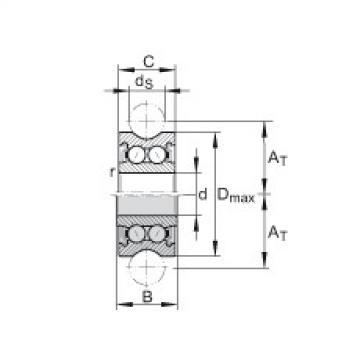 FAG Rolamentos de rolos perfilados - LFR50/5-4-2Z
