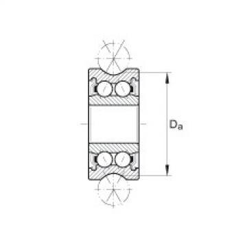FAG Rolamentos de rolos perfilados - LFR50/5-6-2Z