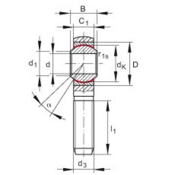 FAG Cabeças articuladas - GAKSL10-PS