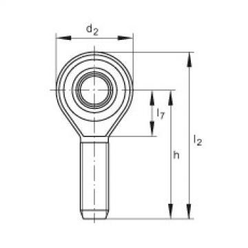 FAG Cabeças articuladas - GAKSL8-PS