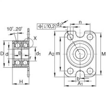 FAG Unidades de rolamento de esfera de contato angular - ZKLR0624-2Z