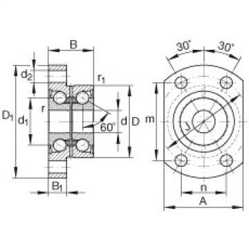 FAG Unidades de rolamento de esfera de contato angular - ZKLFA1050-2RS