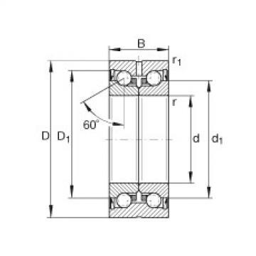 FAG Rolamento axial de esferas de contato angular - ZKLN0832-2Z-XL
