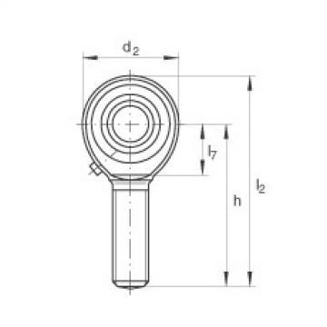 FAG Cabeças articuladas - GAKL6-PB