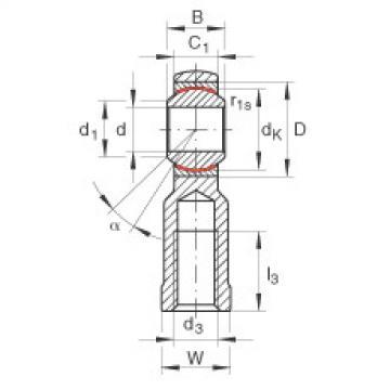 FAG Cabeças articuladas - GIKL8-PW