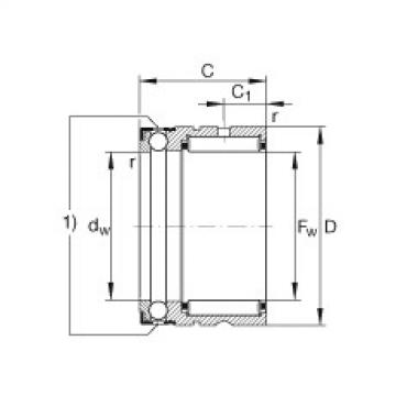FAG Rolamento axial de agulhas e esferas - NX7-TV-XL