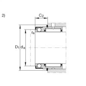 FAG Rolamento axial de agulhas e esferas - NX12-Z-XL