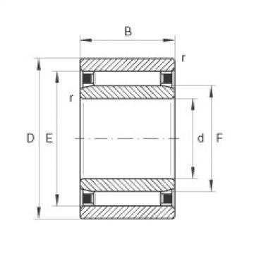 FAG Rolamento de agulhas - NAO9X22X12-TV-XL