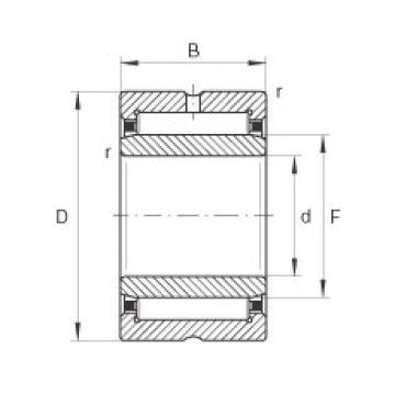 FAG Rolamento de agulhas - NA6901-XL