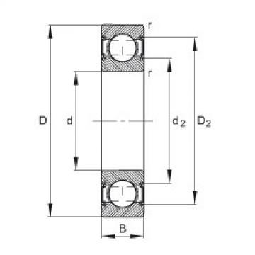 FAG Rolamento de esferas - 6200-C-2HRS