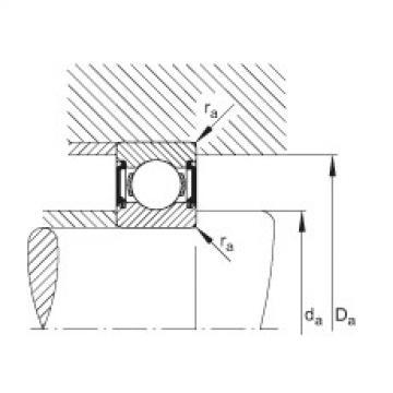 FAG Rolamento de esferas - 6000-C-2BRS