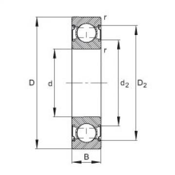FAG Rolamento de esferas - 629-C-2Z