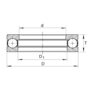 FAG Rolamento axial de esferas - 2912