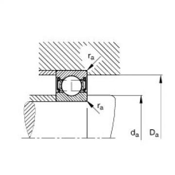 FAG Rolamento de esferas - S61901-2RSR
