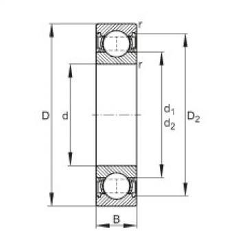 FAG Rolamento de esferas - 61818-2RSR-Y