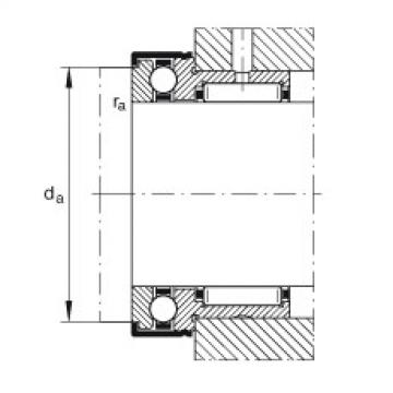 FAG Rolamento axial de agulhas e esferas - NKX10-TV-XL