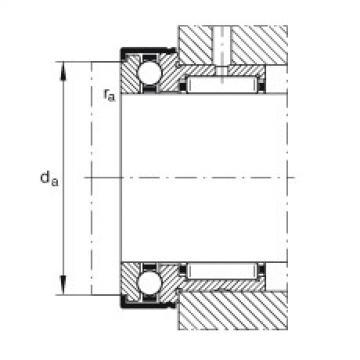 FAG Rolamento axial de agulhas e esferas - NKX12-XL