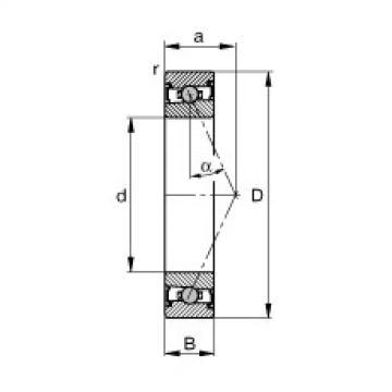 FAG Mancais do fuso - HCS71900-E-T-P4S