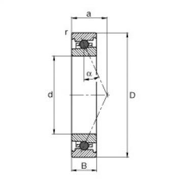 FAG Mancais do fuso - HC7001-E-T-P4S