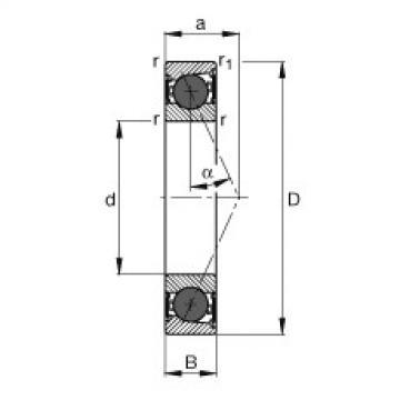 FAG Mancais do fuso - HCB7001-E-2RSD-T-P4S