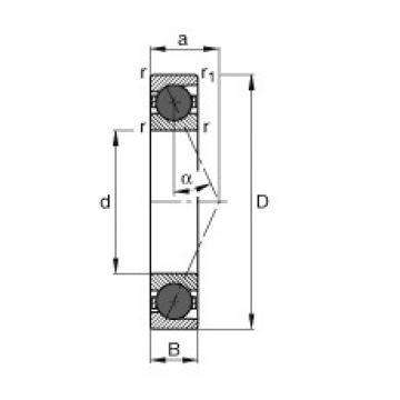 FAG Mancais do fuso - HCB71901-E-T-P4S