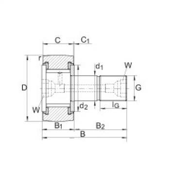 FAG Rolos de leva - KRV22-PP
