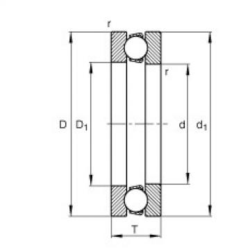FAG Rolamento axial de esferas - 51100