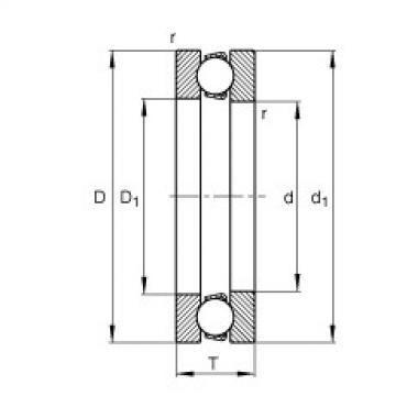 FAG Rolamento axial de esferas - 51418-MP