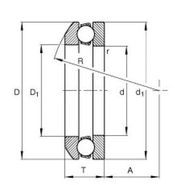 FAG Rolamento axial de esferas - 53200
