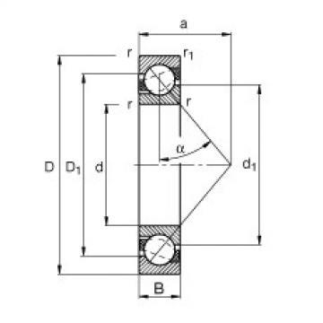 FAG Rolamento angular - 71812-B-TVH
