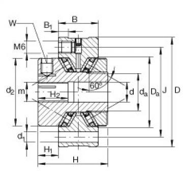 FAG Rolamentos axiais de agulhas de contato angular - ZAXFM1055
