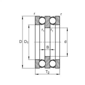 FAG Rolamento axial de esferas - 52202