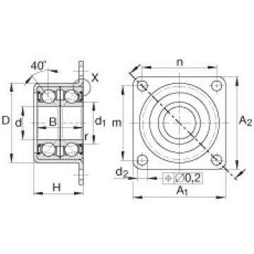 FAG Unidades de rolamento de esfera de contato angular - ZKLR1244-2RS