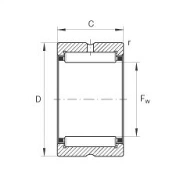 FAG Rolamento de agulhas - NK60/25-TV-XL