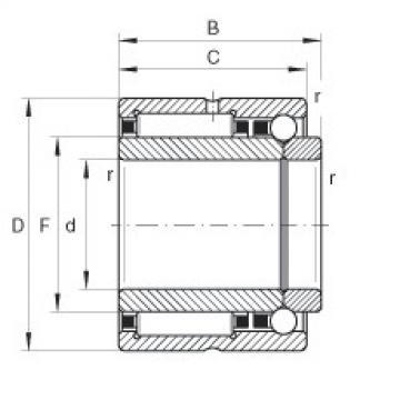 FAG Rolamento de agulhas e esferas de contato angular - NKIB5901-XL