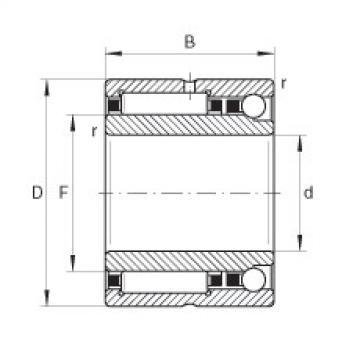 FAG Rolamento de agulhas e esferas de contato angular - NKIA5901-XL