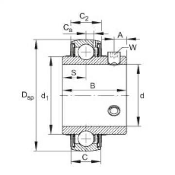 FAG Mancal tensor - UC212-37