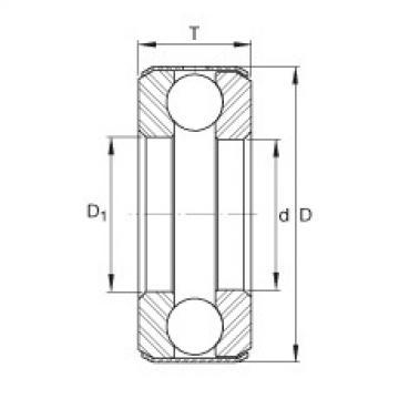 FAG Rolamento axial de esferas - D28